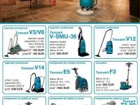 Promotie 1/2014 a echipamentelor de curățenie – Tennant –